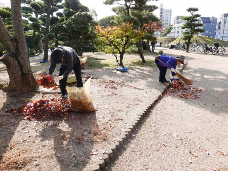 道後公園清掃活動